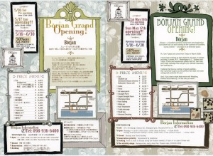 Borjan Hair Salon Sunabe Chatan Menu & Flyer