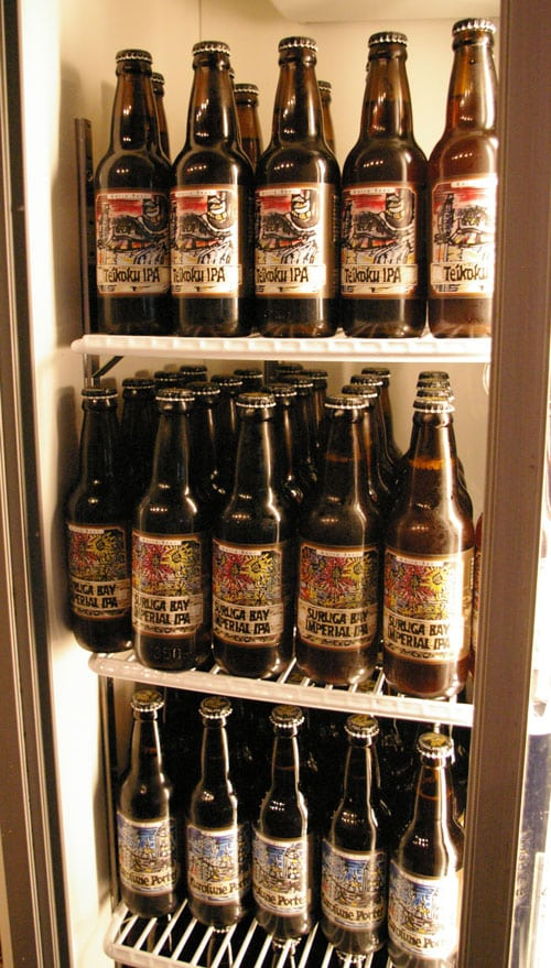Craft Beers in Fridge at Pour House
