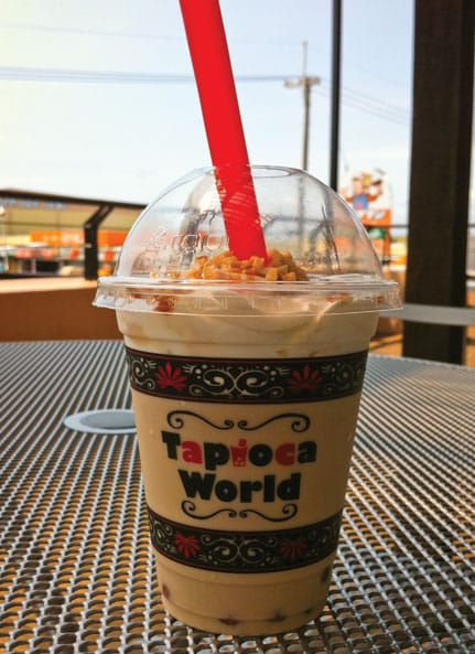 Tapioca World Caramel Almond Tea