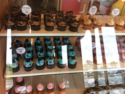 HaHaHa Cupcakes in Display Cabinet