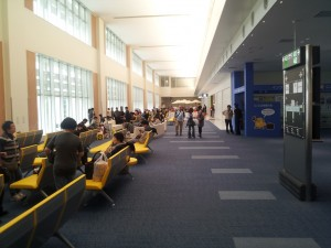 Departure gates of Naha International Airport