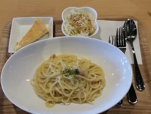 Key's Cafe Carbonara Lunch Set