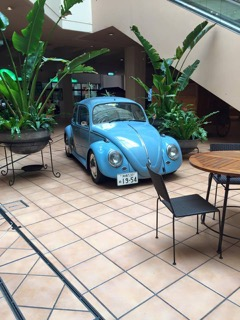 VW Beatle at Plaza Shopping Center