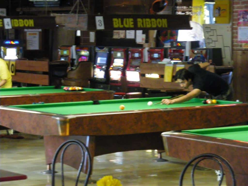 Billiards Game at Blue Ribbon