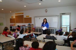 Class at Santa Monica School