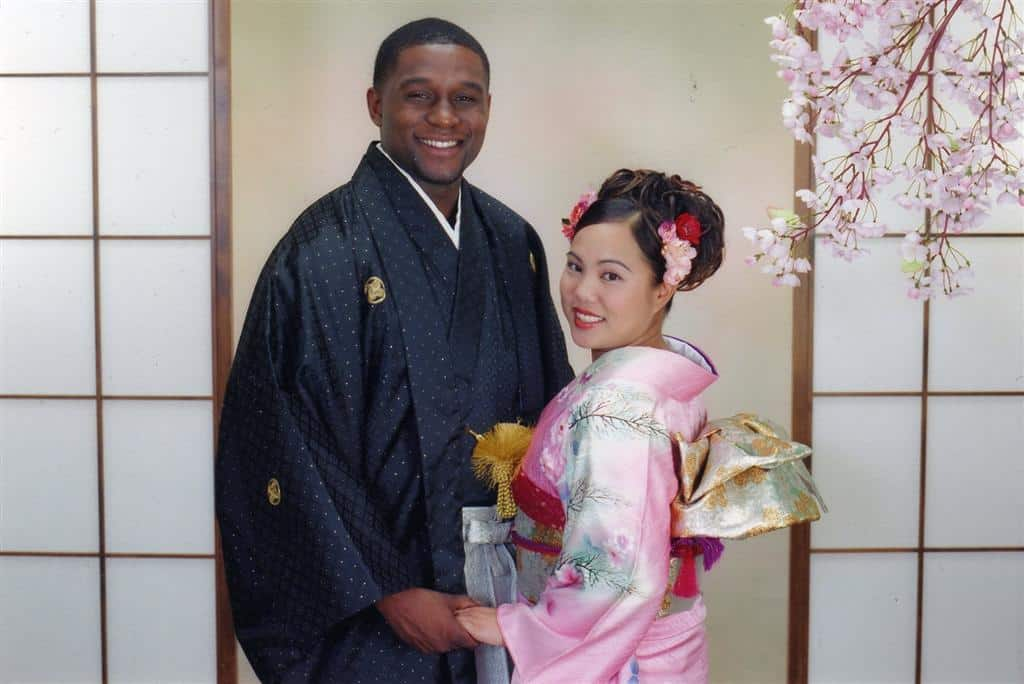 Couple in Traditional Japanese dress at White River
