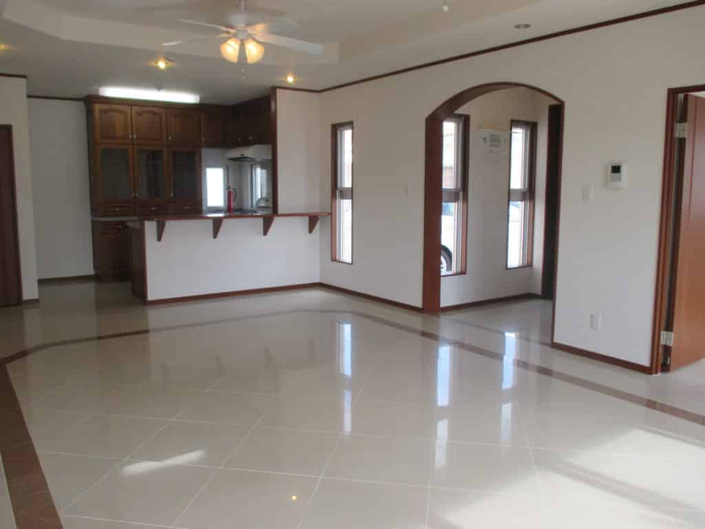 Okinawa Home with Ceiling Fans and Polished Floor