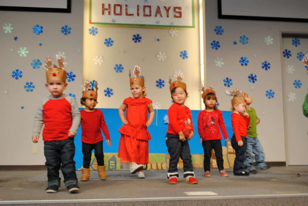 Sunshine Montessori Children in Christmas Costume