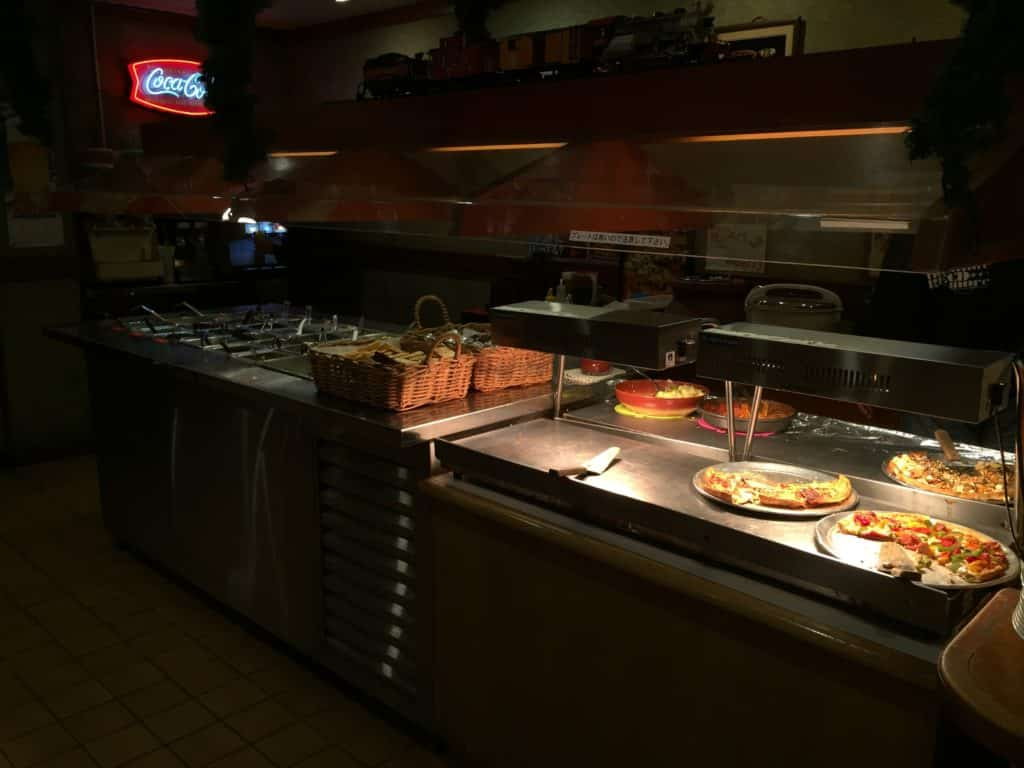 Pizza In Buffet Counter