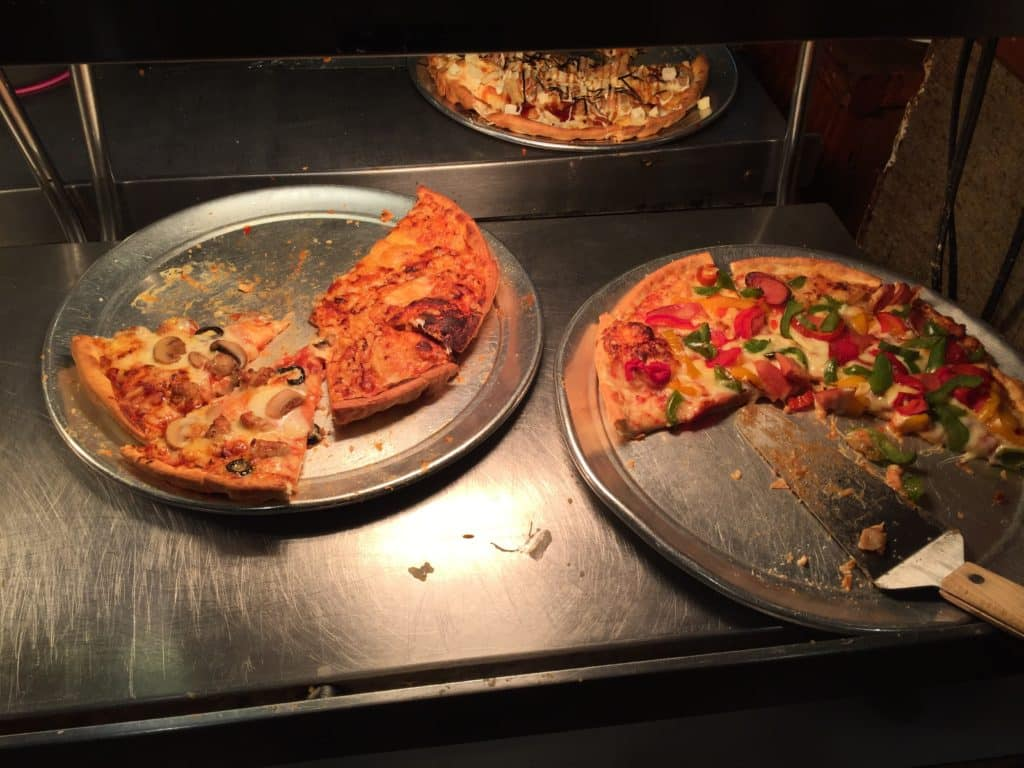 Pizza on Buffet at Pizza In