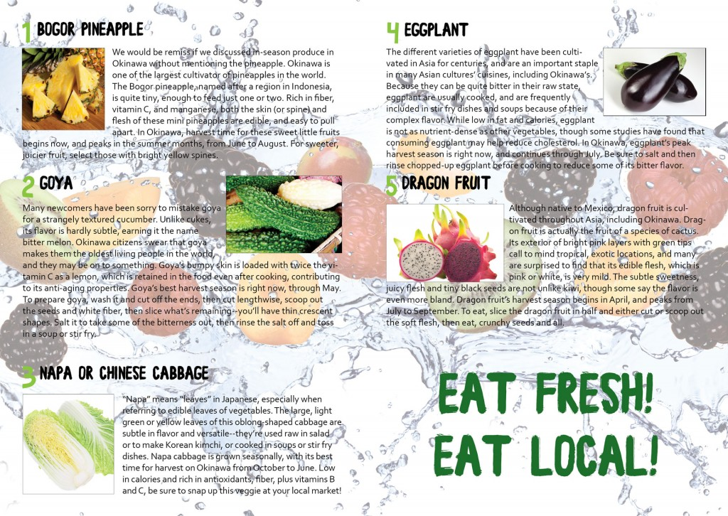 Eat Fresh! Featured Article from Total Okinawa Magazine April 2015