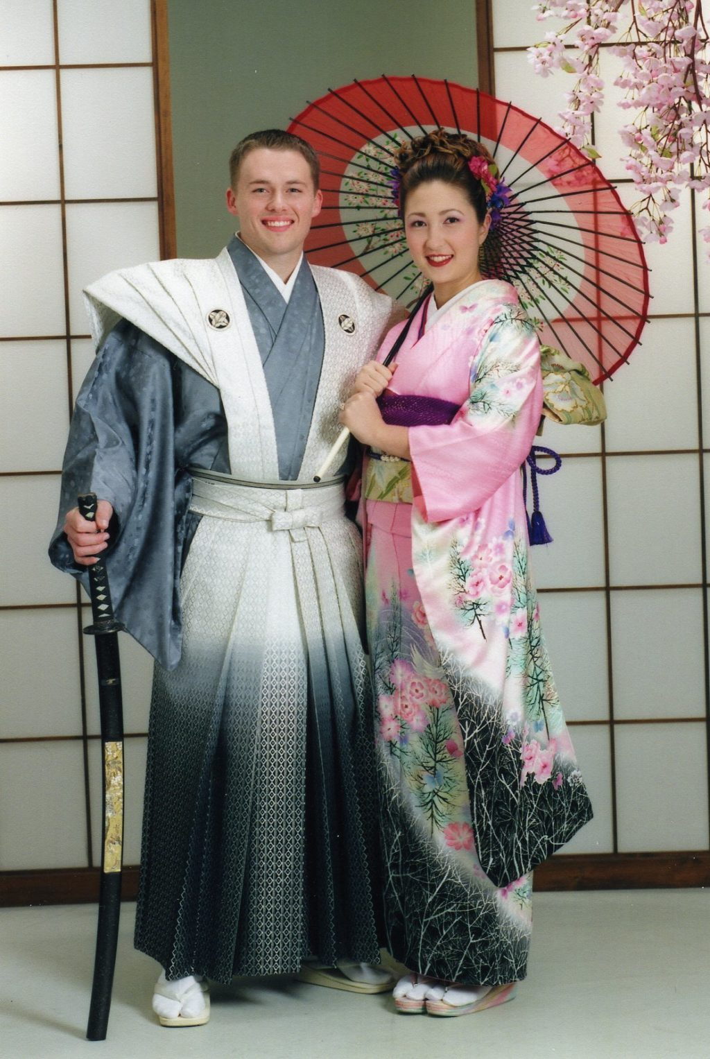 Couple in traditional Japanese dress