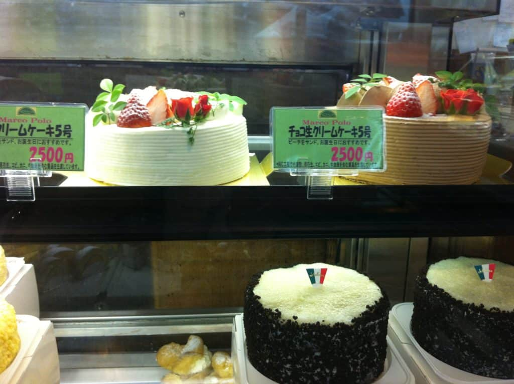 Fresh Fruit & Cream cakes at Marco Polo Bakery