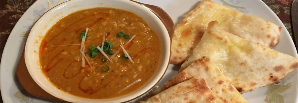 Lentil Curry with Cheese Naan