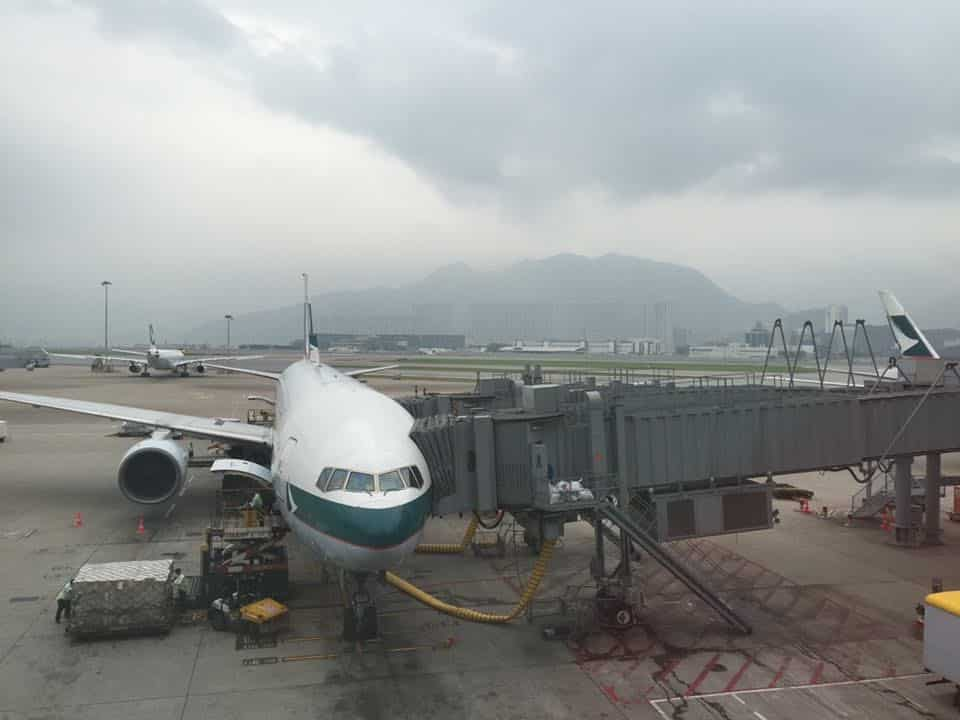Cathay Pacific Plane at Hong Kong International Airport
