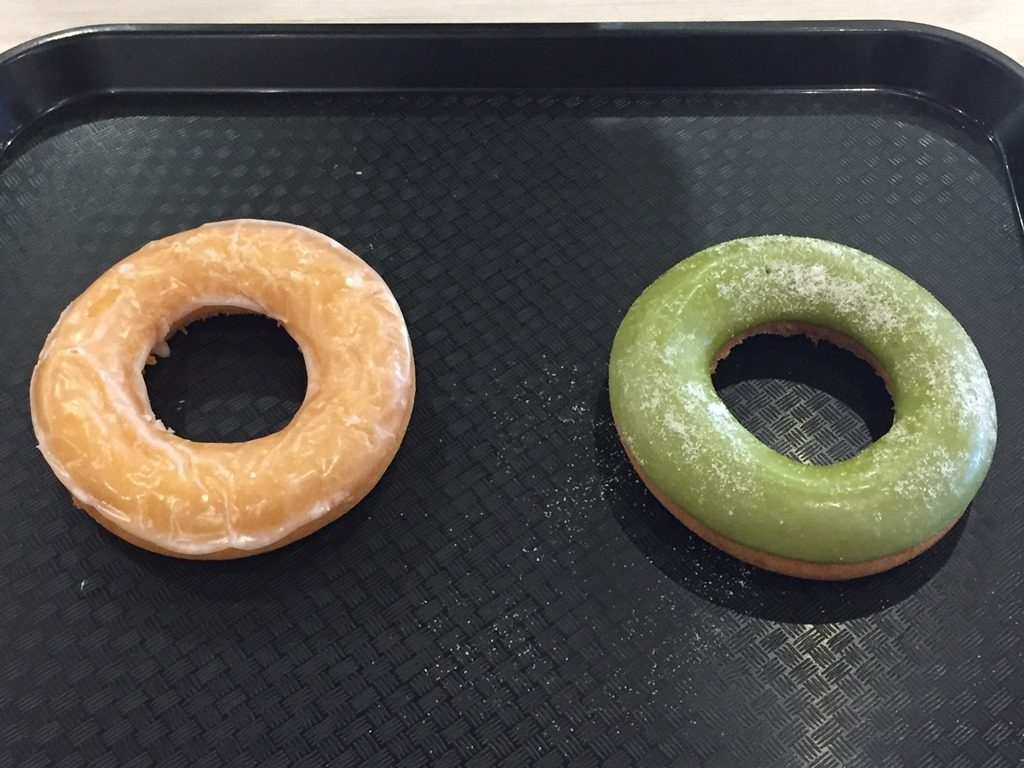 Glazed Ring and Matcha Ring Donut