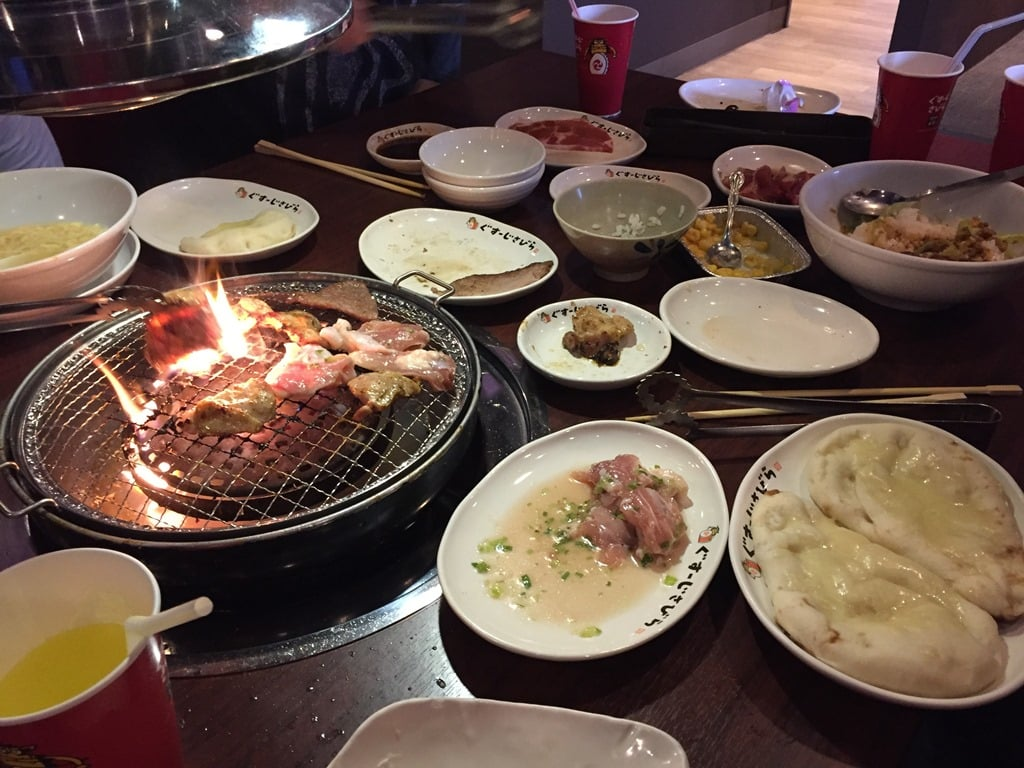 Table grill at Goen Yakiniku