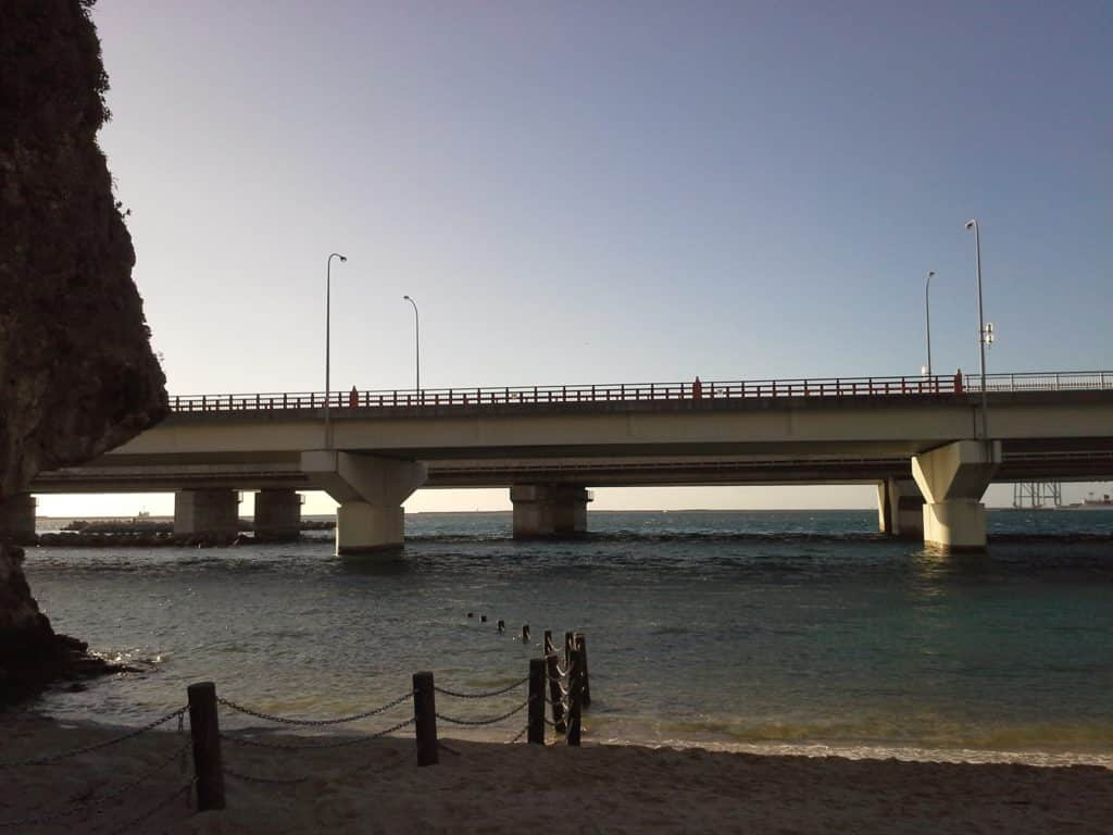 Bridge over Naminoue Beach