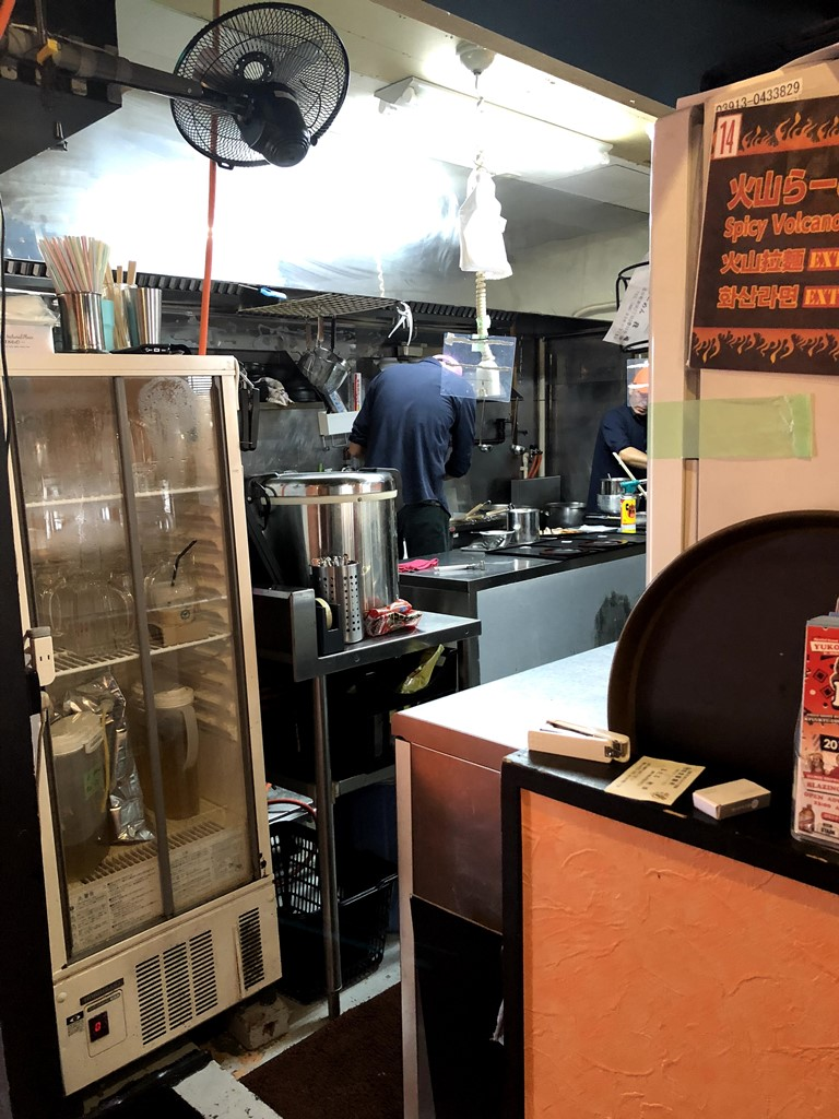 Kitchen of Gadou Ramen