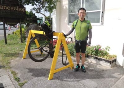 Bikestand and Cyclist