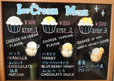 Yoho Ice Cream Menu