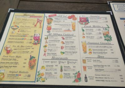 Posillipo Menu