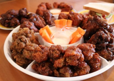 Wing King Platter and Sandwiches
