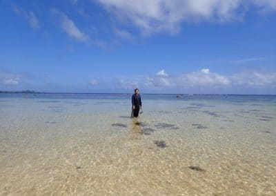 Man standing on beach at Ishigaki Island