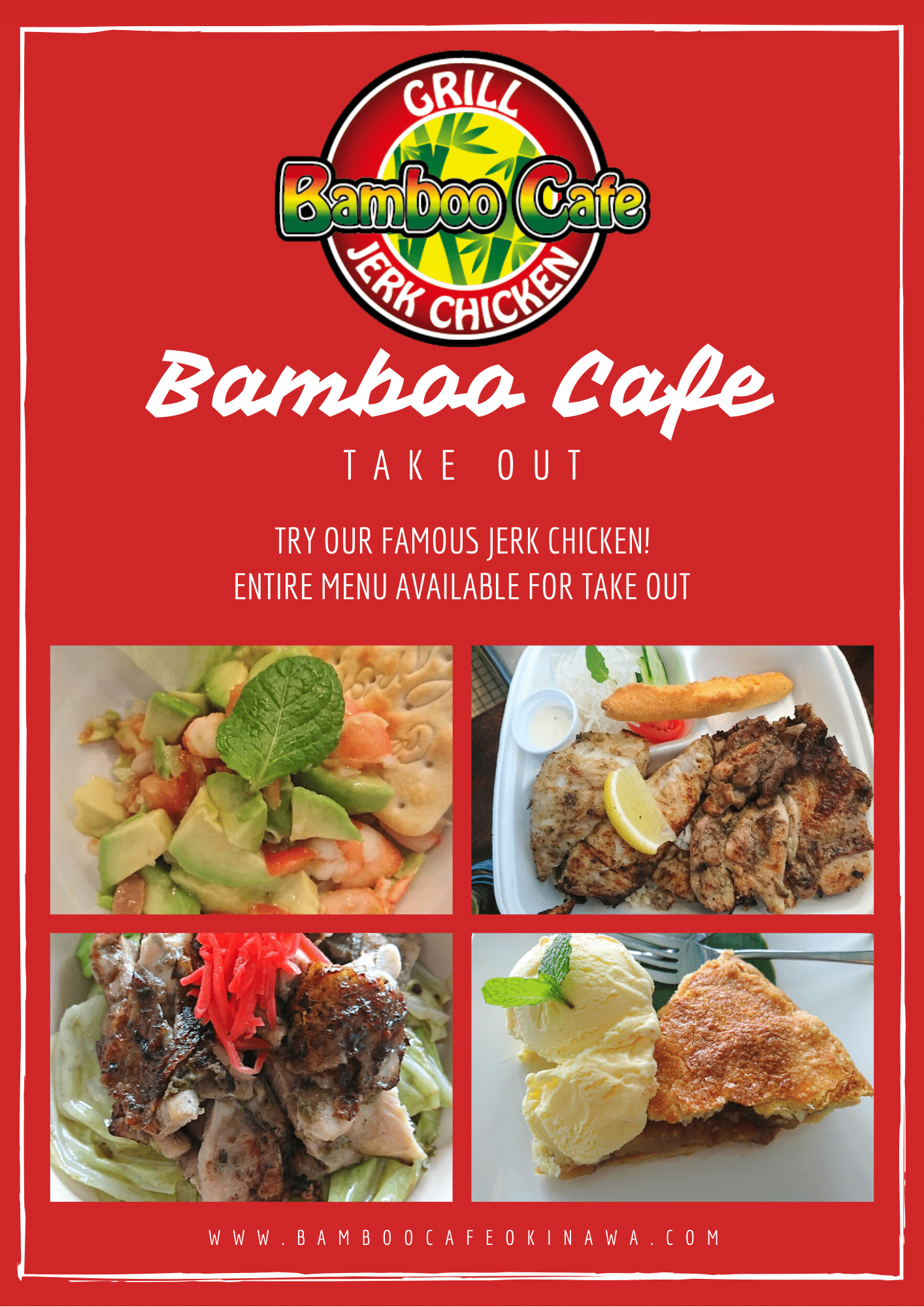 Bamboo Cafe Take Out Menu