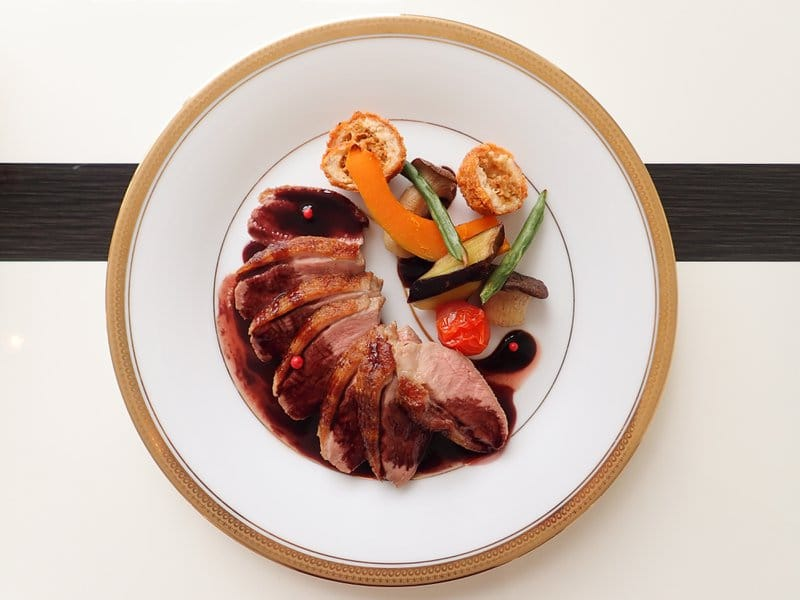 Roasted Duck Breast with Italian Red Wine Sauce