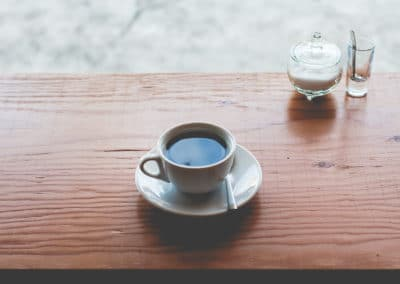 Cup of Coffee with Bowl of Sugar
