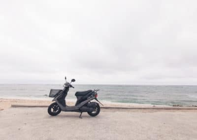 Scooter on the beach