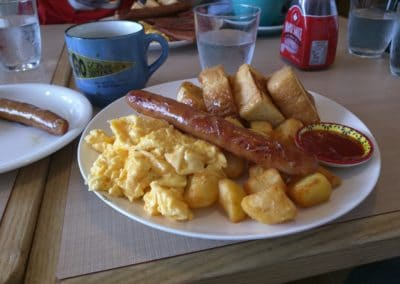 Sausage, Toast and Scrambled Egg