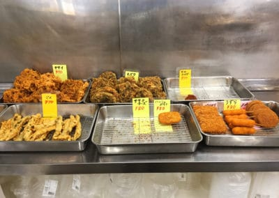 Selection of fresh tempura