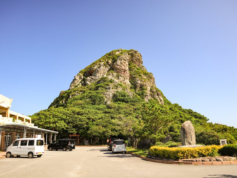 Mount Gusuku seen from carpark